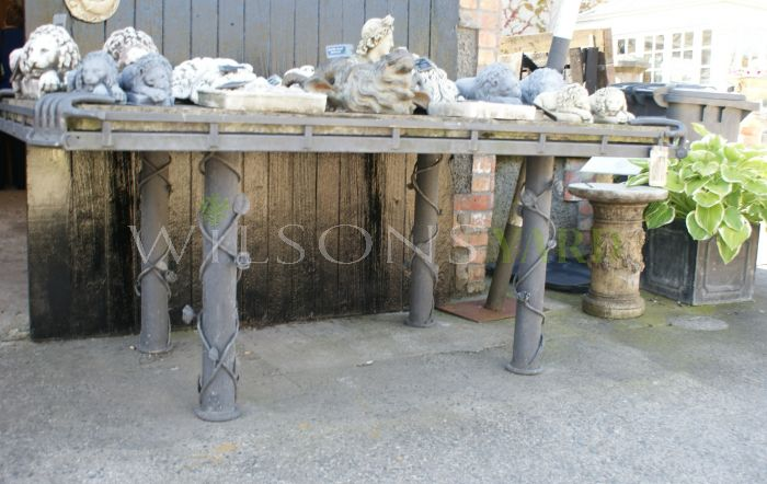 Beautiful Handmade Yorkstone Garden Table with Decorative Legs