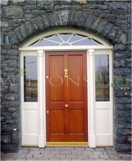 4 Panel door with screen and fanlight