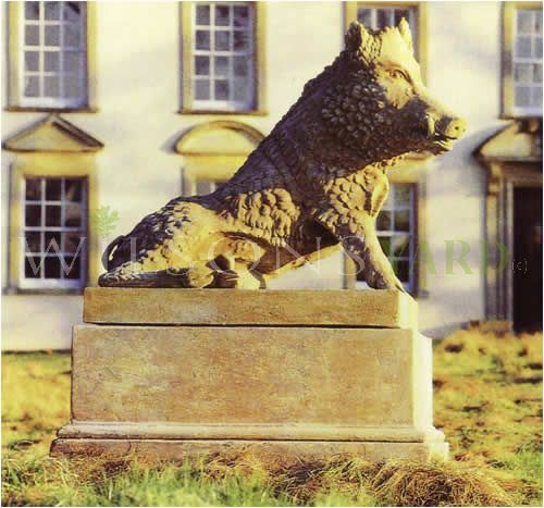 The Triton Collection  - The Wild Boar On Plinth (Pair)