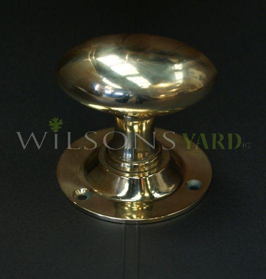 Solid Brass Oval Handles / Door Knob