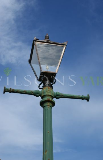 Original Victorian Street Lamp With Replacement Lanterns