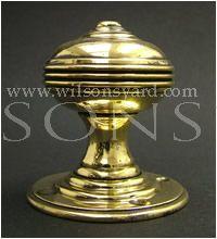 Solid Brass Top Hat Door Handles / Door Knobs
