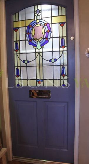 Georgian Door with Stained Glass