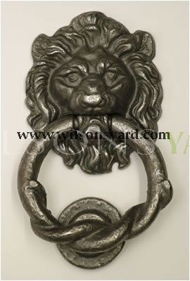 Small Lion Cast Iron Door Knocker