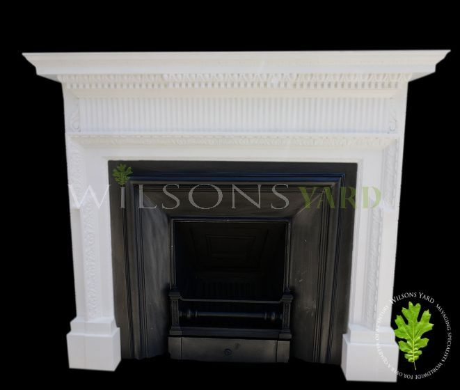 Restored Edwardian painted fireplace