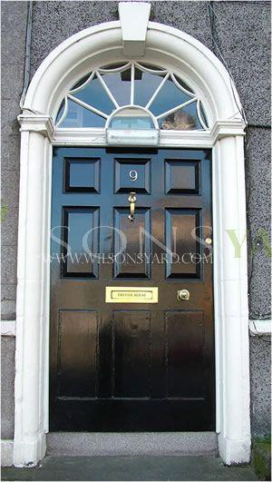 Large Georgian 9 panel black door