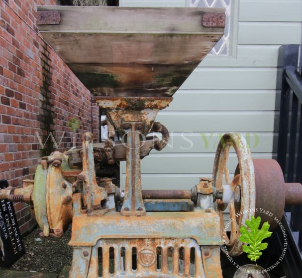 Vintage cast iron grinding mill