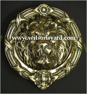 Large Lion Ornate Solid Brass Door Knocker