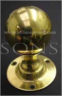 Solid Brass Classic Round Door Handles / Door Knobs