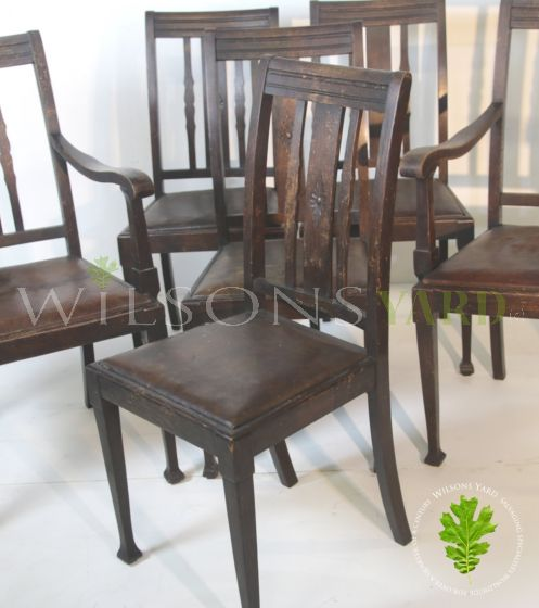 6 Vintage kitchen dining chairs
