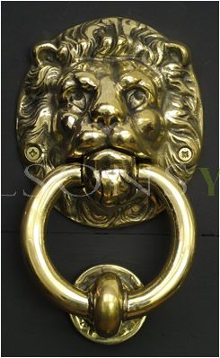 Small Lion Solid Brass Door Knocker