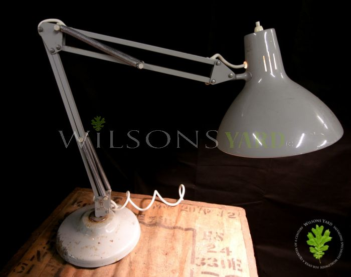 Vintage Spring Loaded Industrial Desk Lamp - Model B