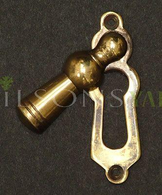 """Solid Aged Brass """"Lady"""" Escutcheon"""