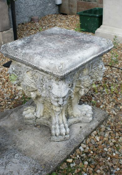 Lions Head Stools with Claw Feet