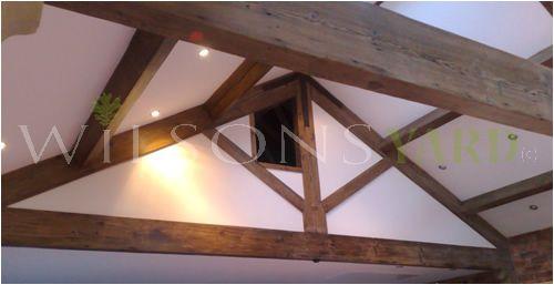 Mock gavel King post truss in pine