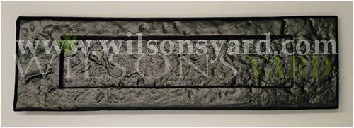 Medium Black Cast Iron Letter Plate