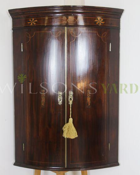 Vintage Georgian corner cupboard