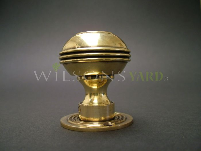 Solid Brass Georgian Door Handle / Door Knob