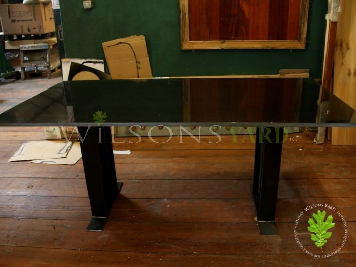 Granite Topped Table with H Iron Legs