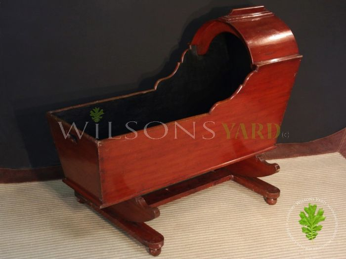 Beautifully Patinated Victorian Baby Cradle (Circa 1880)