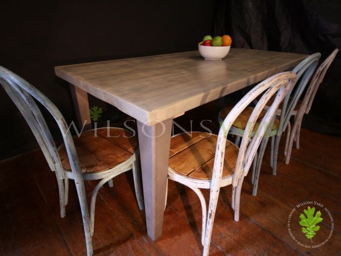 Grey Topped Table with 4 Metal Legs
