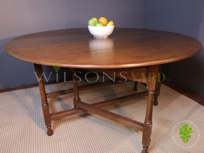 Large Round Table with Drop Sides