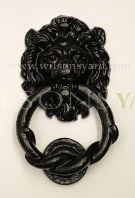 Small Black Lion Cast Iron Door Knocker