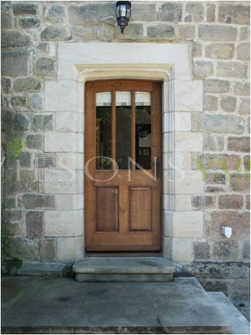 3 pane/2 panel door & frame in solid Oak