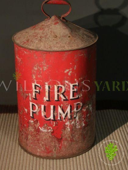 Antique Red Fire Pump