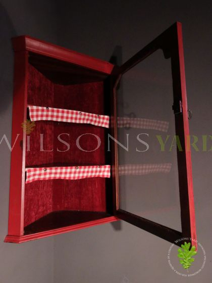 Funky Red Painted Corner Cupboard