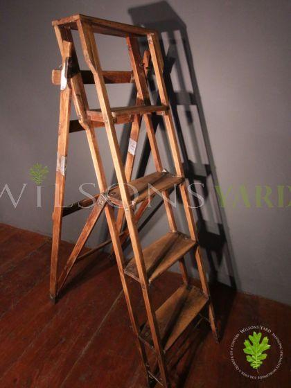 Attractive Edwardian Wooden Step Ladder