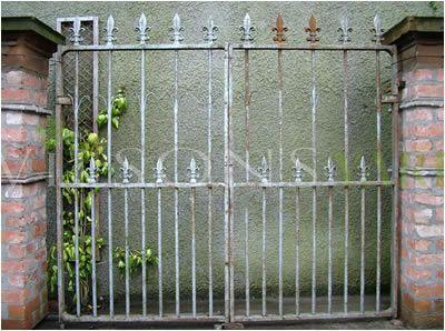 Fleur de Lis Metal Garden Gates