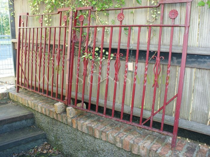 Rare Set of Square Top Driveway Gates