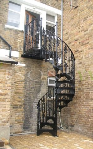 Black Cast Iron Spiral Staircase