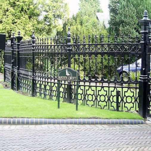 Heritage cast iron gates and railings