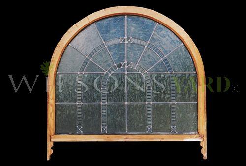 Victorian Leaded Glass Semi Circle Window