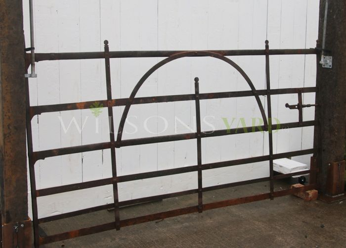 Vintage wrought iron field gate