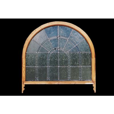 Victorian Leaded Glass Semi Circle Window