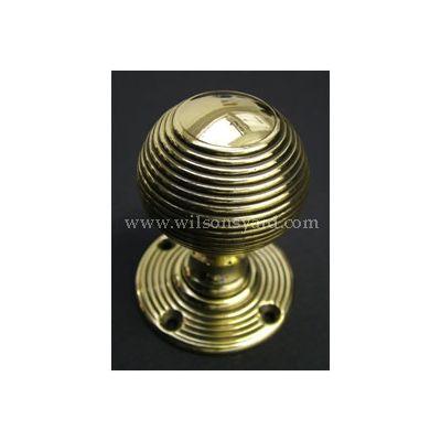 Solid Brass Beehive Door Handles / Door Knobs