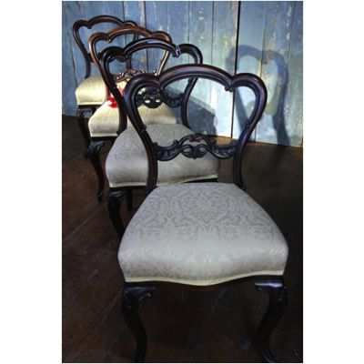 4 Number Reupholstered Dining Chairs
