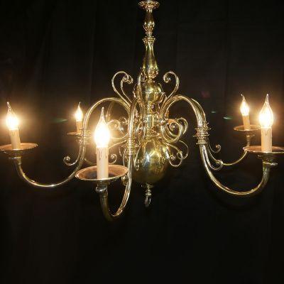 Beautifully large restored vintage Brass chandelier