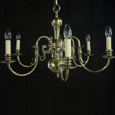Beautiful restored Brass chandelier in a Georgian style