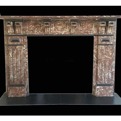 Impressive Edwardian marble fireplace (circa 1900)