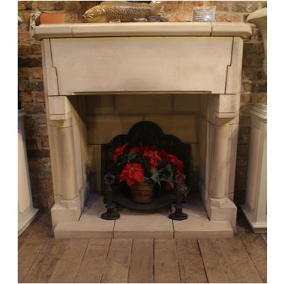 French Priory Style Fireplace
