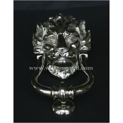 """10 Downing Street"" Nickel Lion Door Knocker"