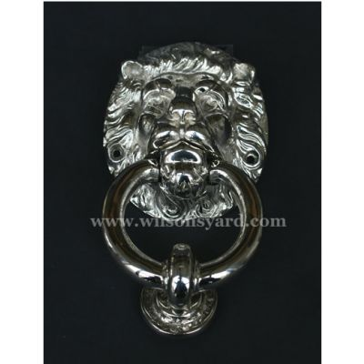 Small Lion Nickel Door Knocker