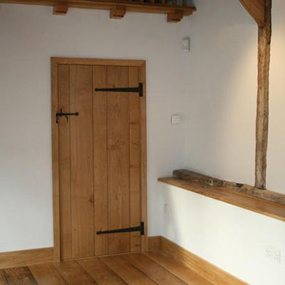 Traditional French Farmhouse Door In Planked Oak