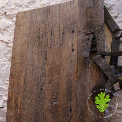 Salvaged rustic Oak wall boarding