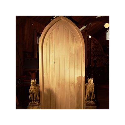 Gothic Front Door And Frame Hand Made In Solid Oak