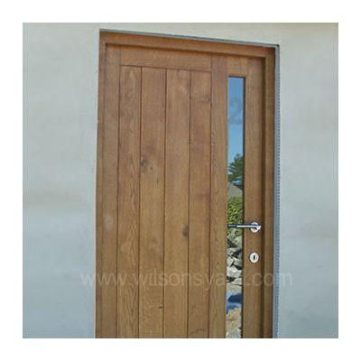 Contemporary Door & frame in solid Oak